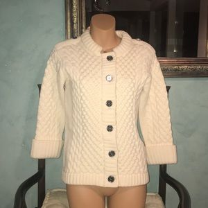 Burberry cable cardigan sweater